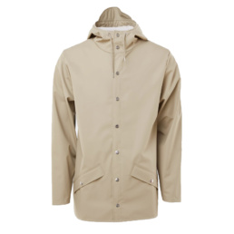 La Jacket Unisex original Rains Beige l' imperméable basic incontournable chez Atalante - Antibes