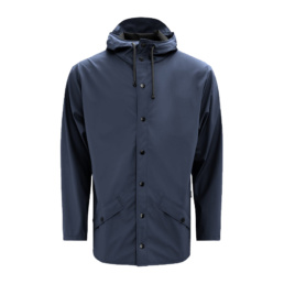 La Jacket Unisex original Rains Blue l' imperméable basic incontournable chez Atalante - Antibes