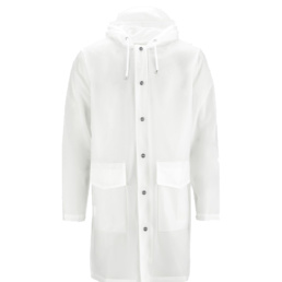 La Jacket Unisex original Rains Foggy White l' imperméable basic incontournable chez Atalante - Antibes