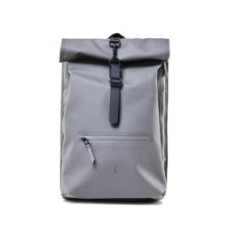 Le bag original Rains Rolltop Rucksack Charcoal l'imperméable basic incontournable chez Atalante - Antibes