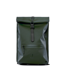 Le bag original Rains Rolltop Rucksack Green l'imperméable basic incontournable chez Atalante - Antibes