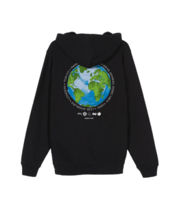 Le Hoodie original Stussy Global Design Black basic incontournable chez Atalante - Antibes