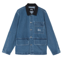 La Jacket original Stussy Denim Chore Coat Blue basic incontournable chez Atalante - Antibes