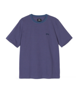 Le Tshirt original Stussy Mini Stripe Navy basic incontournable chez Atalante - Antibes