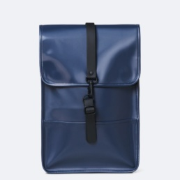 Rains-backpack-mini-shiny-blue-1