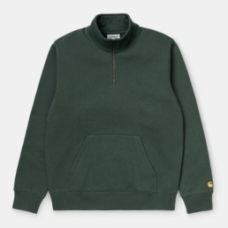 carhartt-chase-neck-zip-sweatshirt-dark-teal-front