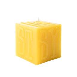 stussy-cube-candle-yellow