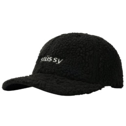 stussy-sherpa-fleece-low-pro-cap-black