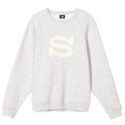 stussy-stussy-s-crew-ash-grey-front