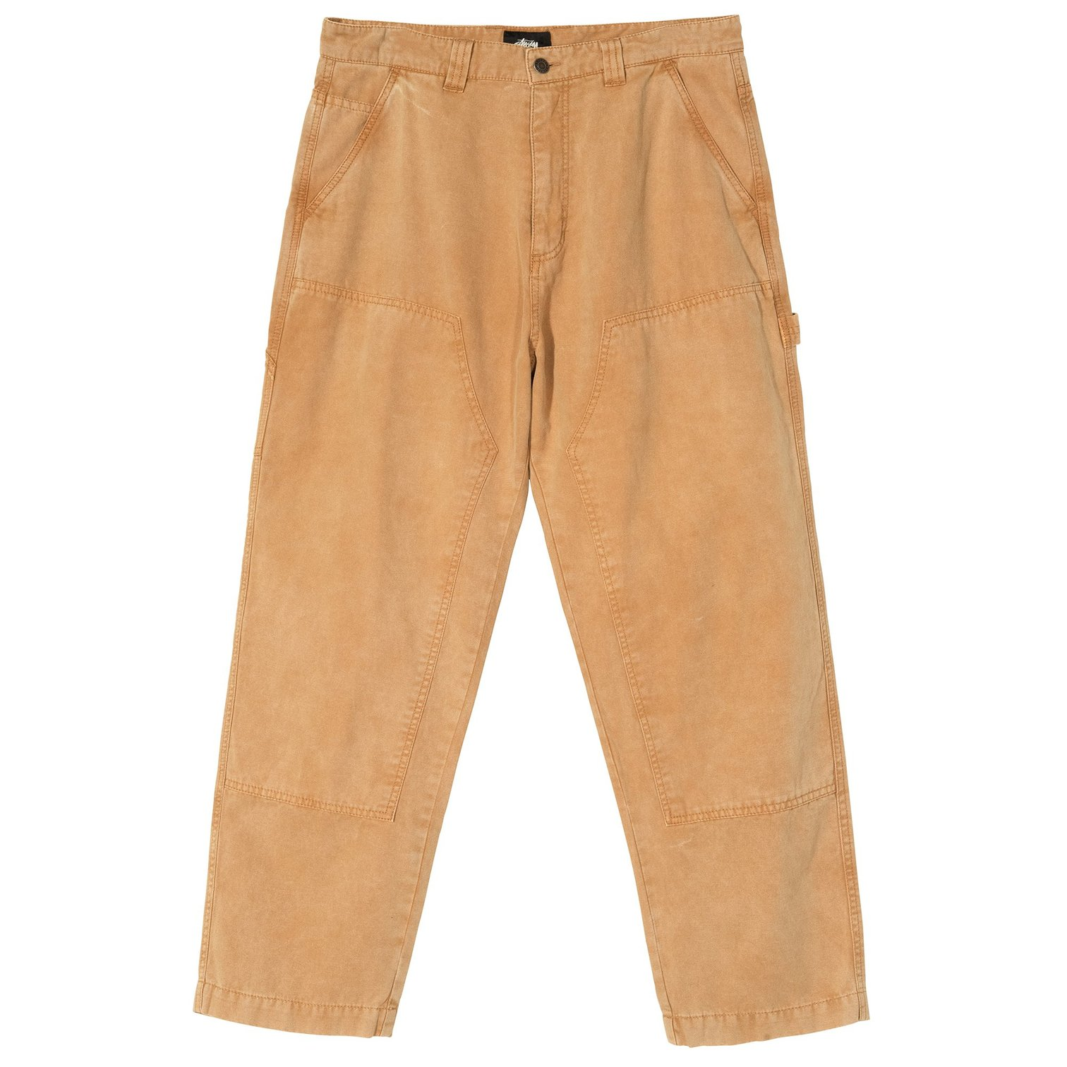 stussy-washed-canvas-work-pant-gold-front