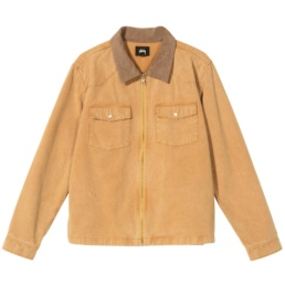 stussy-washed-canvas-work-shirt-gold-front