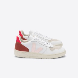 veja-v-10-leather-white-petale-rose-fluo-side