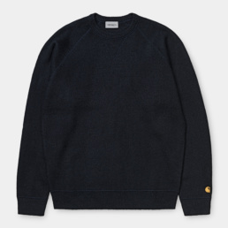 carhartt-chase-sweater-dark-navy-gold-front