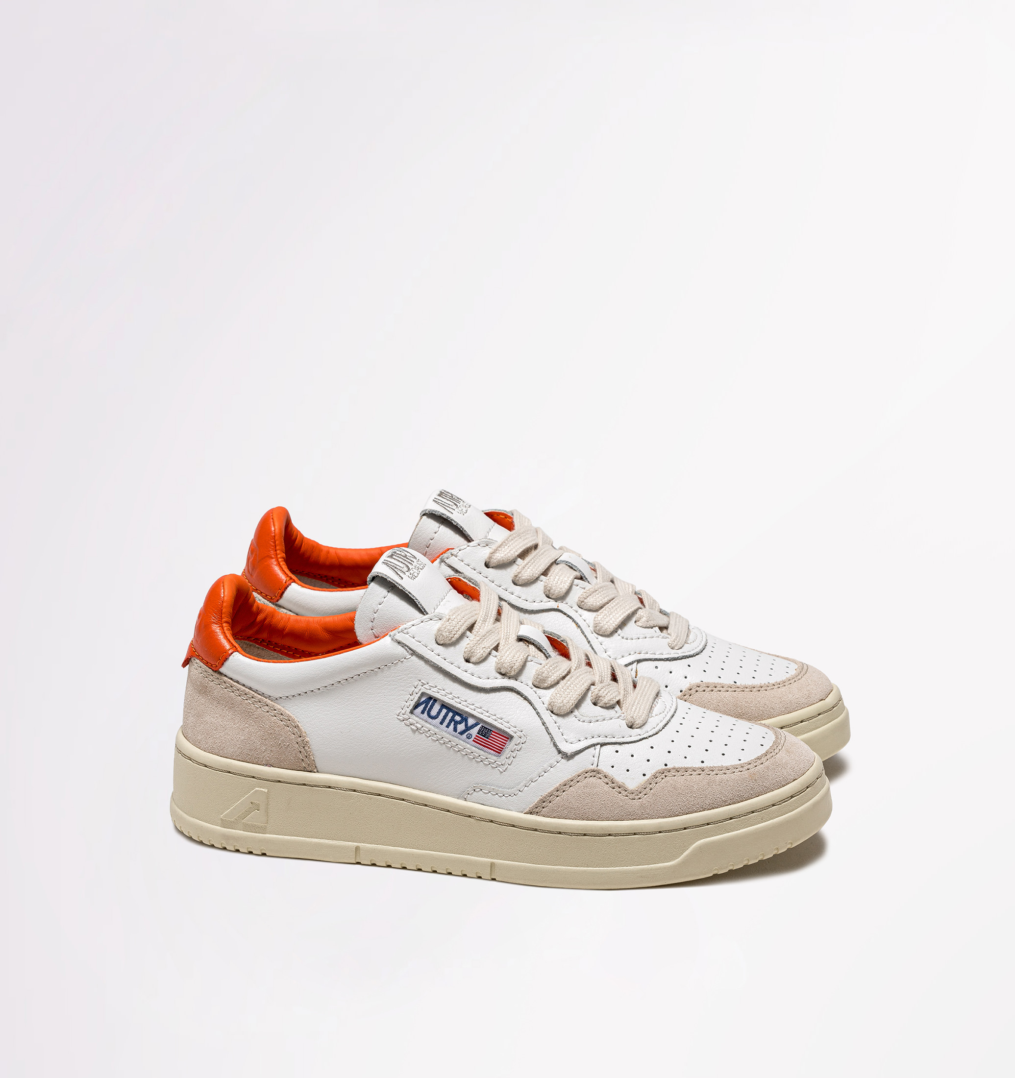 autry-01-low-leather-suede-white-orange-side-both
