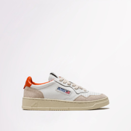 autry-01-low-leather-suede-white-orange-side
