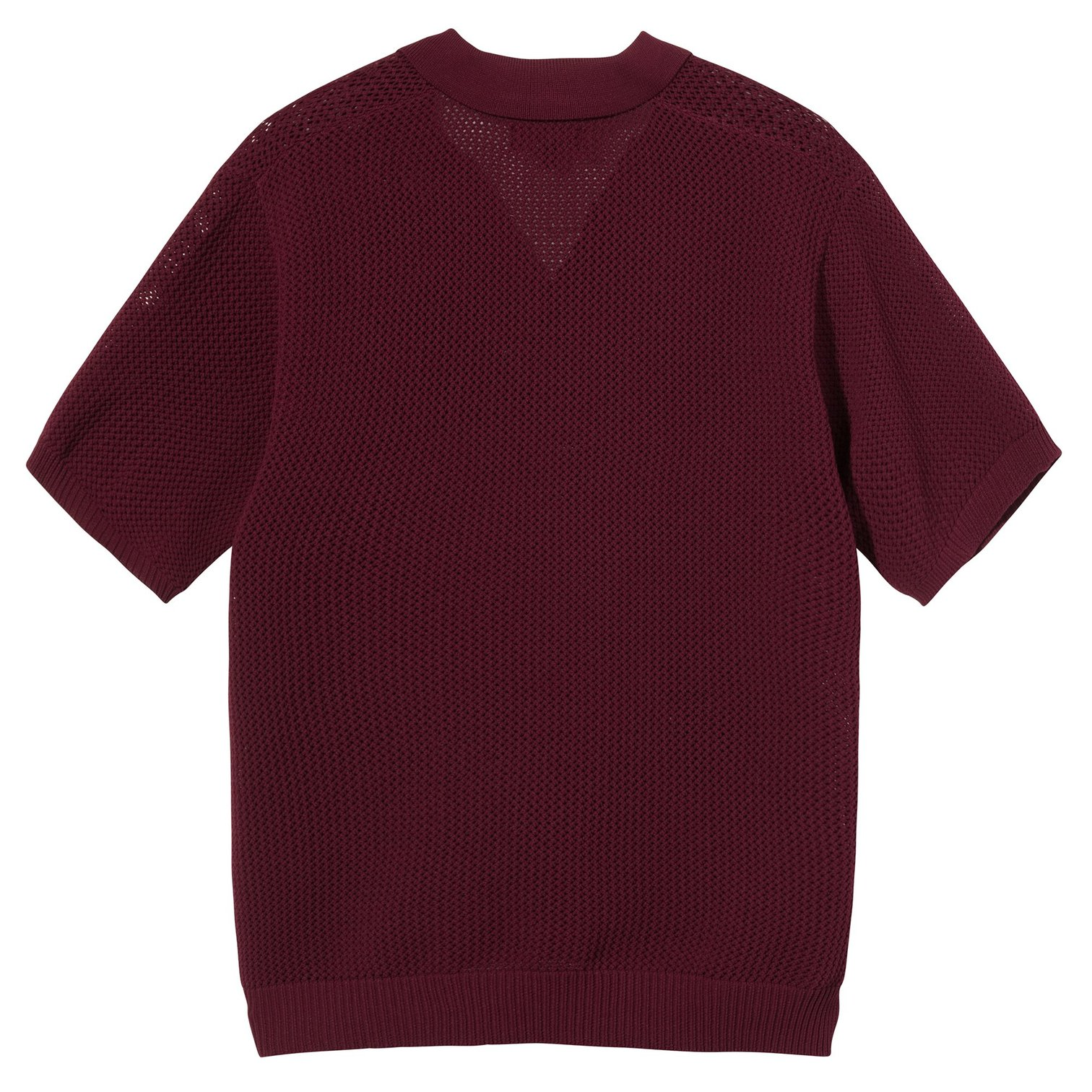 stussy-cable-mesh-ss-polo-maroon-back