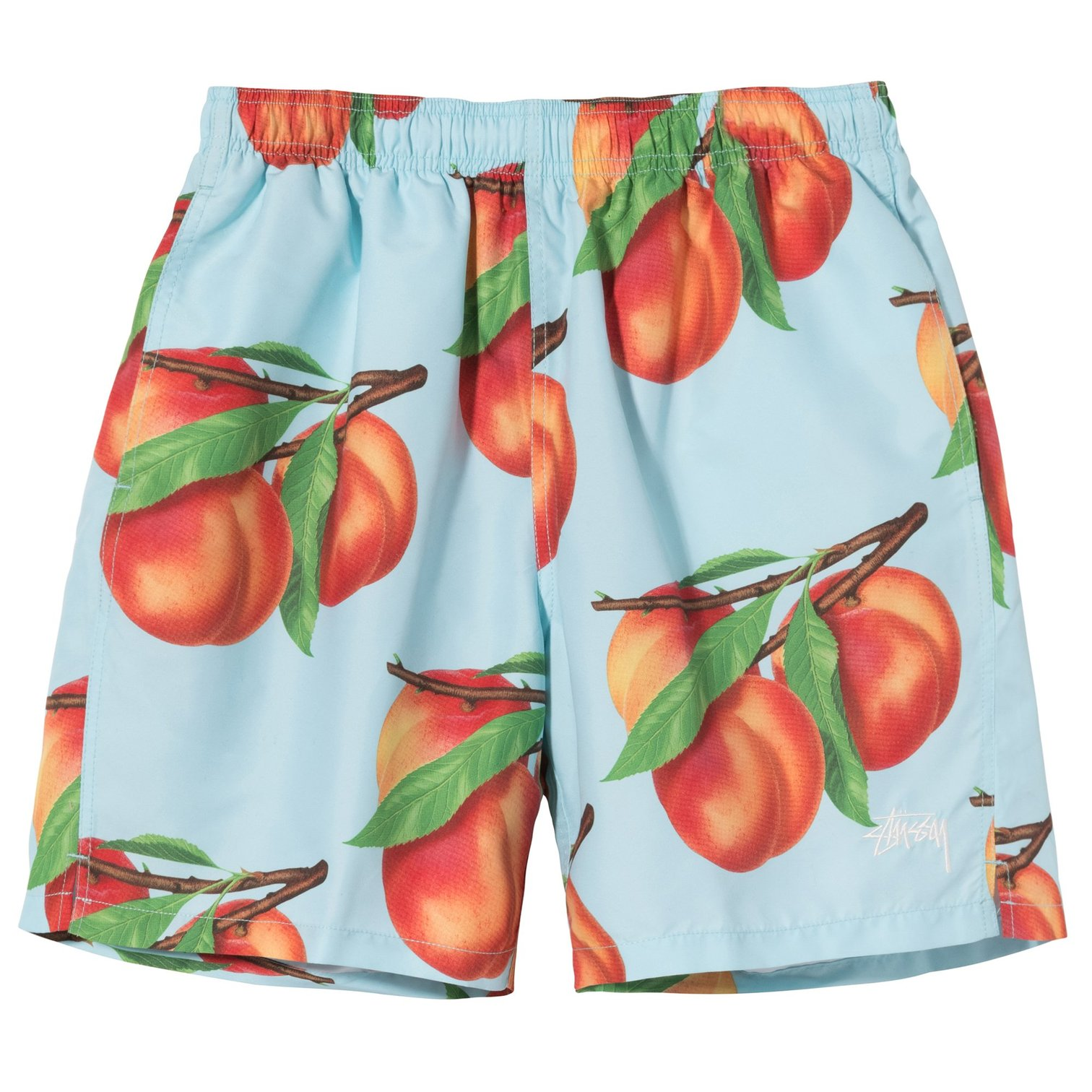 stussy-peaches-water-short-light-blue-front