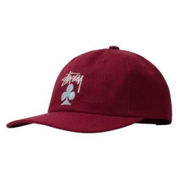 stussy-stock-club-low-pro-cap-burgundy