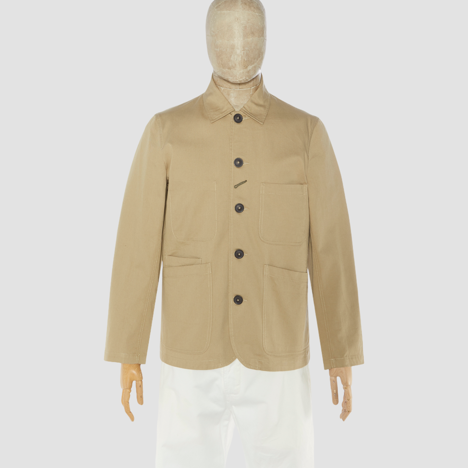 universal-works-bakers-jacket-tan-front